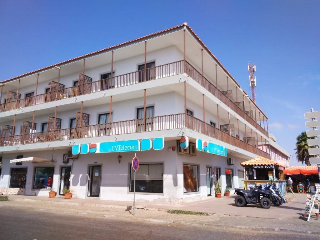 CVTelecom shop in Santa Maria on Sal island of Cape Verde